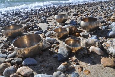 bowls on beach
